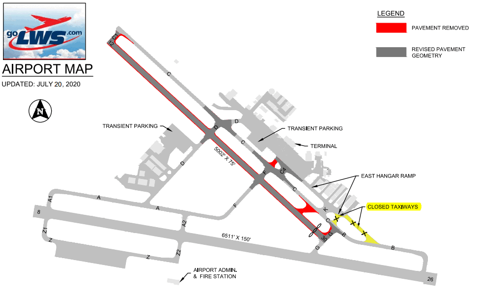 lewiston-airport-map
